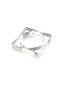 Clear Resin Square Bangle