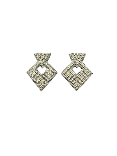 Buckle Style Crystal Earrings