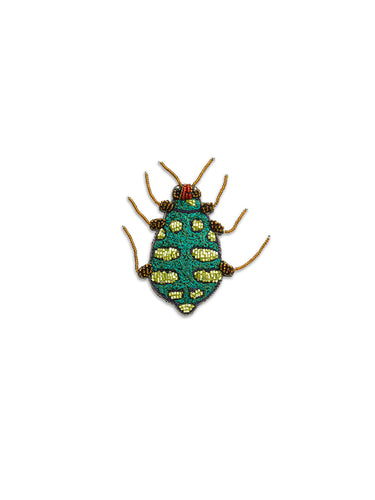 Green & Gold Bug Brooch