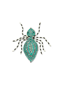 Green Spider Brooch