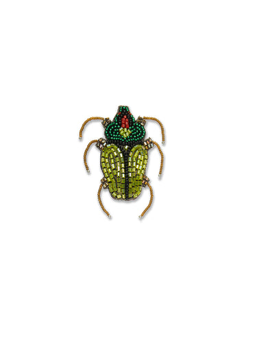 Green & Yellow Scarab Brooch