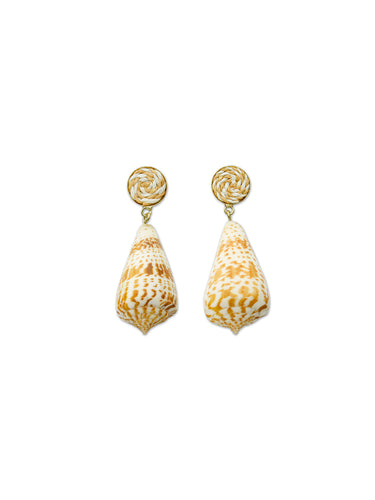 Horn Shell Drop Earrings