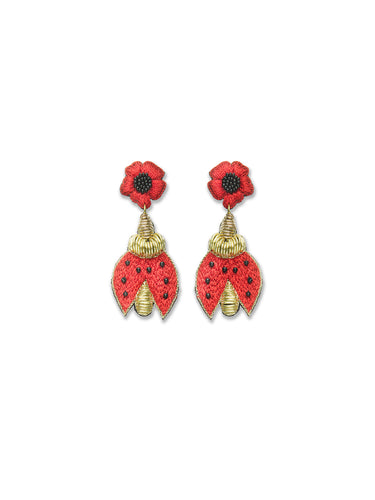Ladybird Drop Earrings