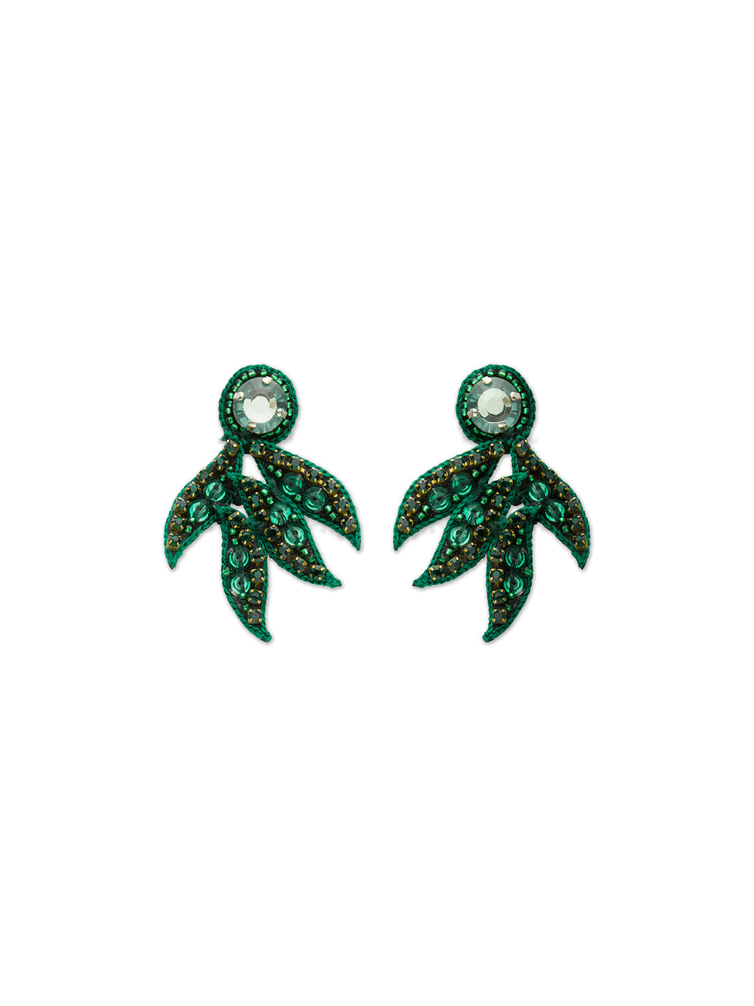 Emerald Mini Cosmos Earrings