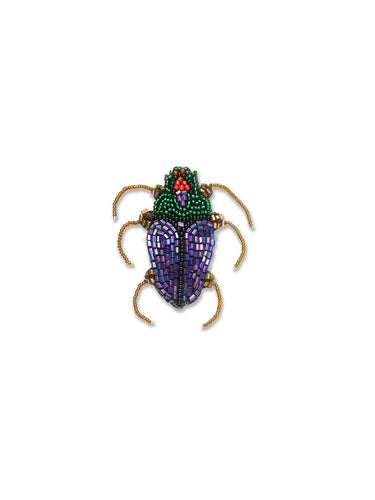 Green & Purple Scarab Brooch