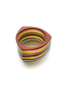 Bold Resin Stripe Cuff