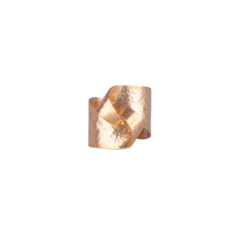 Gold Plated Bronze Knot Ring