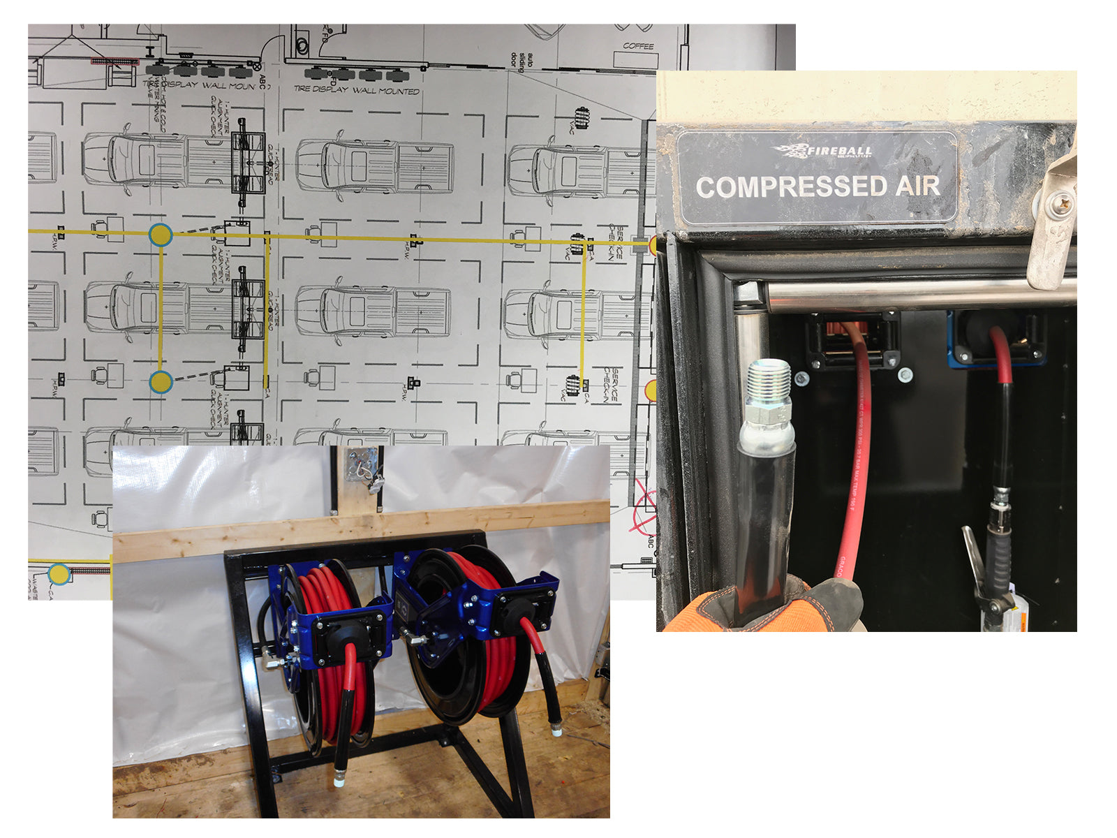 Compressed Air System Repair Shop Bay