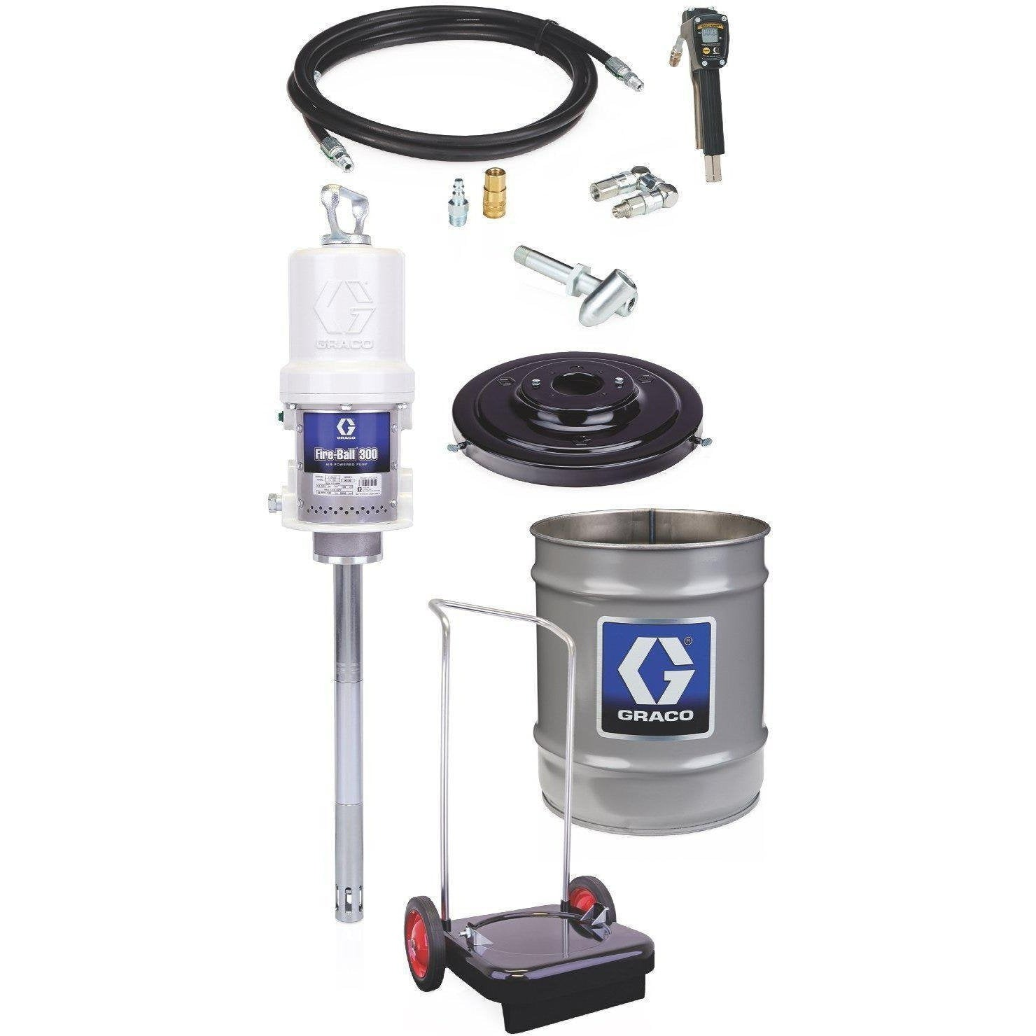 Graco 245695 Fire-Ballâ® 300 Series 50:1 35 To 50 Lb. Grease Pump - Portable Pail Dispenser Package - Fireball Equipment Ltd.