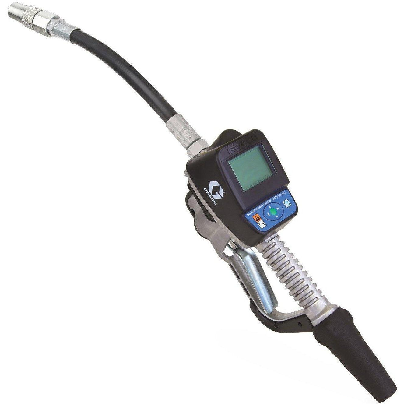 "24H157-Graco 24H157 Sdm15 Series Electronic Manual Oil/Anti-Freeze Meter - Flexible Extension - 3/4"" Inlet - Bspt-Order-Online-Fireball-Equipment"