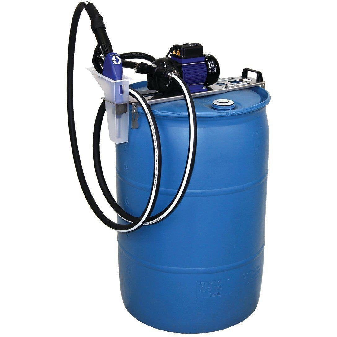 24V656-Graco 24V656 Ld Blue Electric Pump Package - 5' Suction Hose Length - Manual Nozzle - Sst Clamp Fittings-Order-Online-Fireball-Equipment