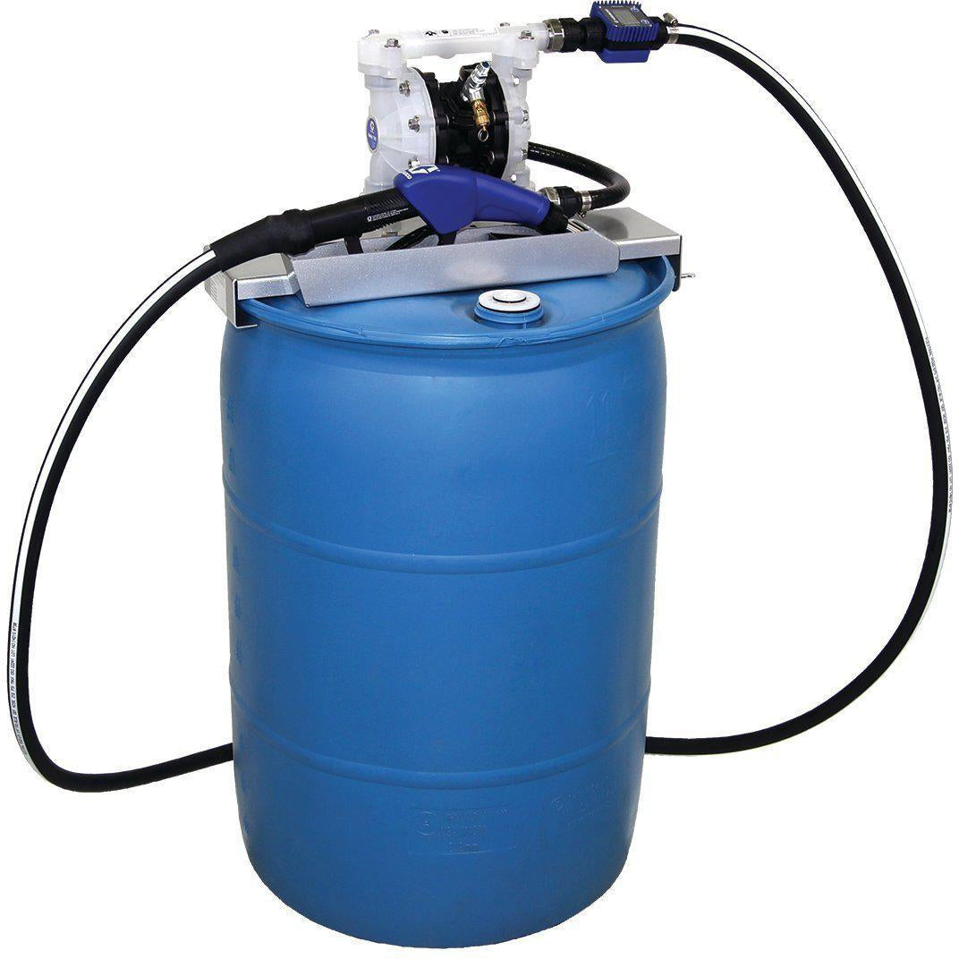 24V686-Graco 24V686 Sd™ Blue Pump Drum Package - 2' Suction Hose Length - Automatic Nozzle - Sst Clamp Fittings-Order-Online-Fireball-Equipment