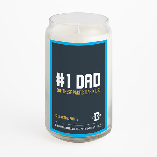#1 Dad (Of These Particular Kids) candle