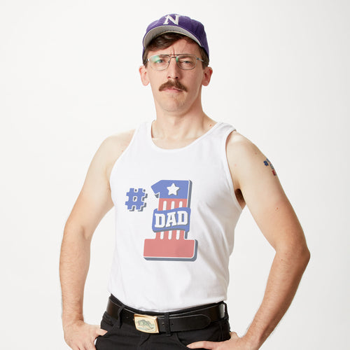 Fathers Day #1 Dad Tank Top