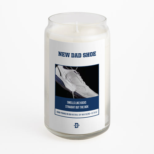 New Dad Shoe Candle
