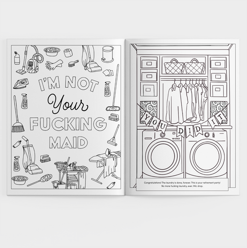 Calm Your Tits & Color adult coloring book