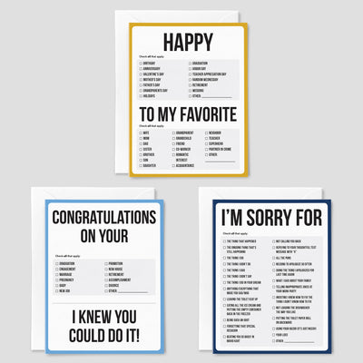 The Perfect Pack greeting cards