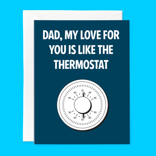 Thermostat Father's Day card