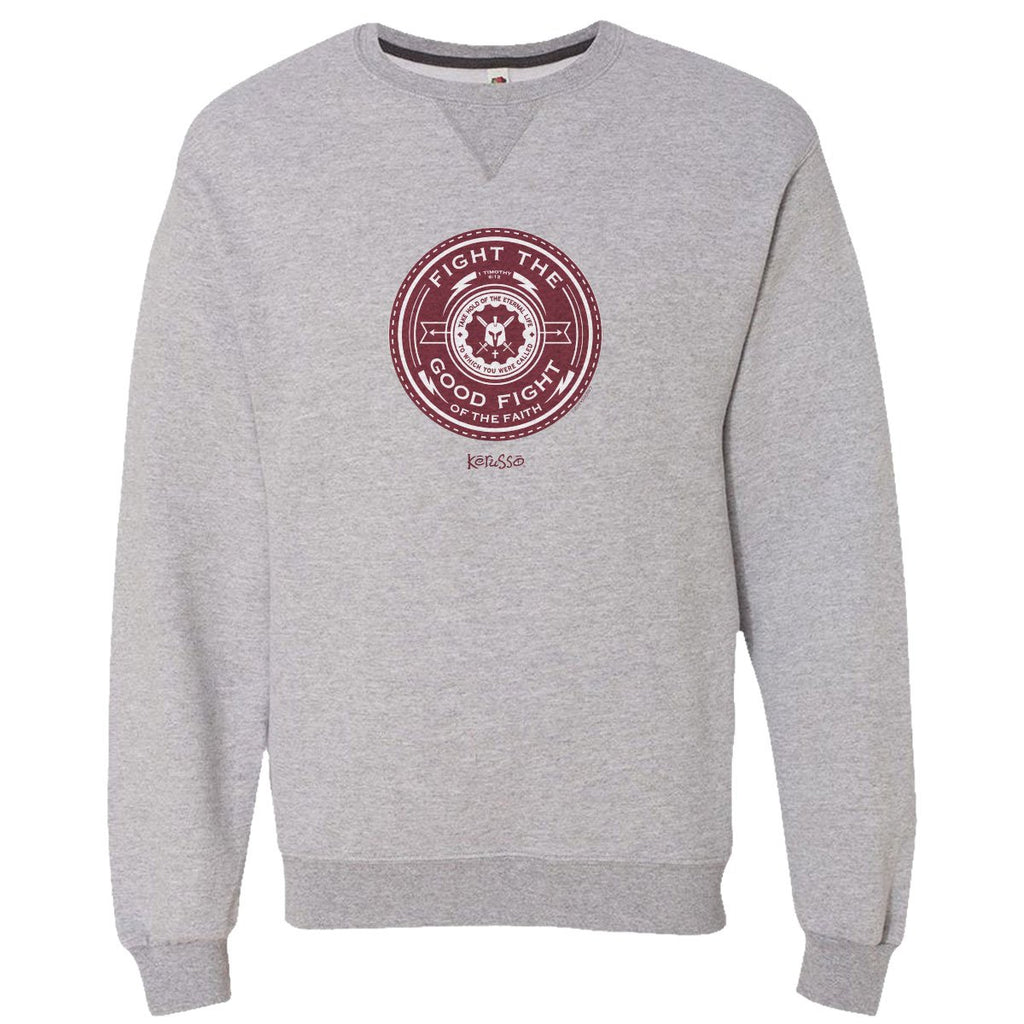 Kerusso® Adult Crew Sweatshirt - Good Fight