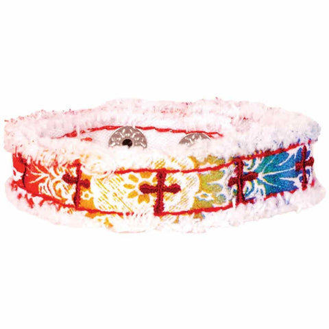 Rainbow And Crosses Cherished Canvas Bracelet