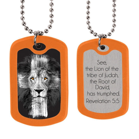 Lion Christian Dog Tags