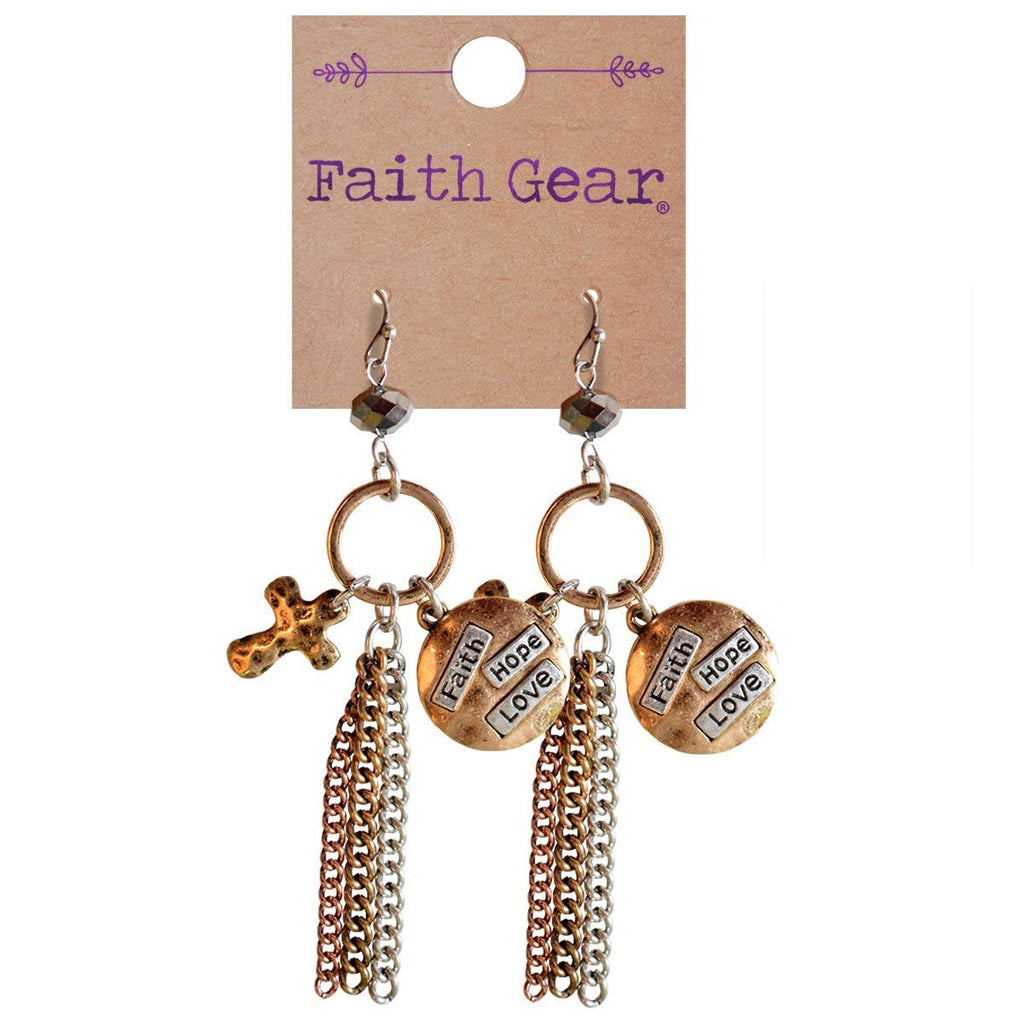 Faith Gear® Women's Earrings - Faith Hope Love