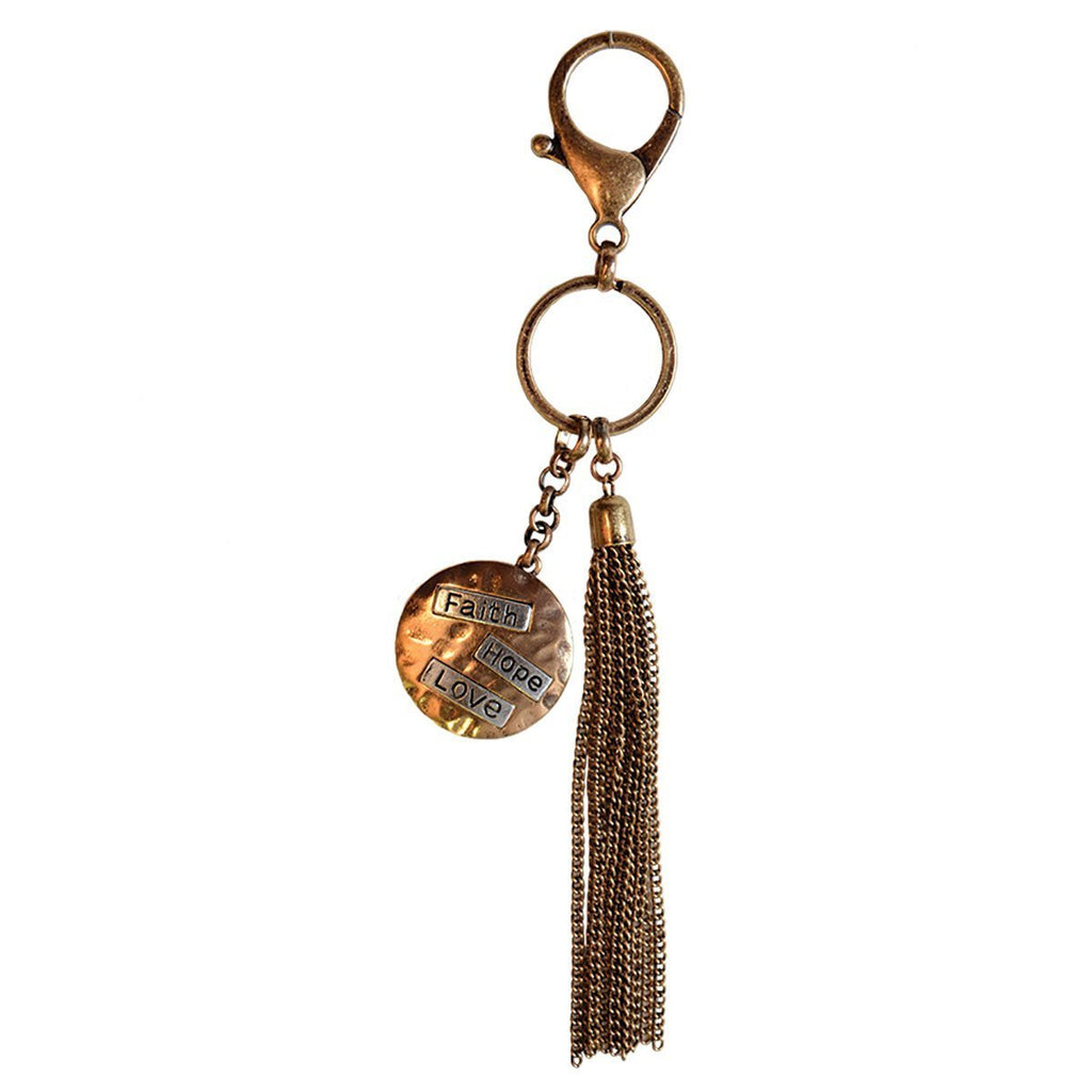 Faith Gear® Women's Keychain - Faith Hope Love