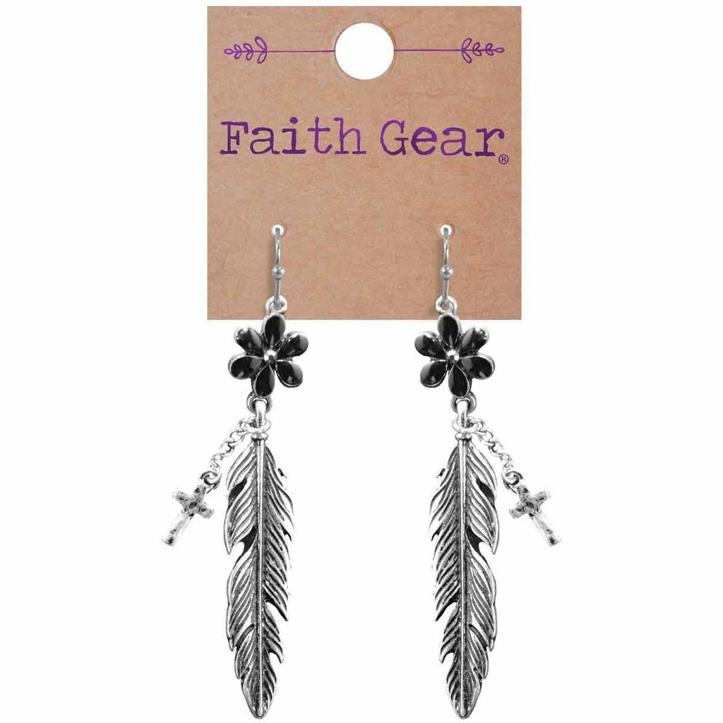 Flower Feather Women's Earrings