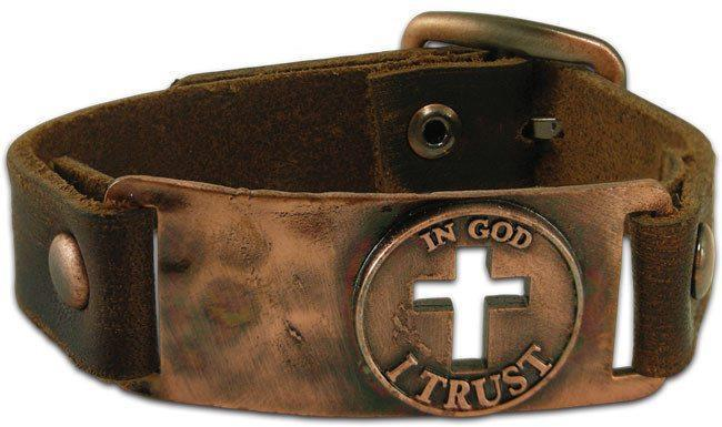 In God I Trust - Leather Christian Bracelet