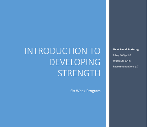 Introduction to Developing Strength