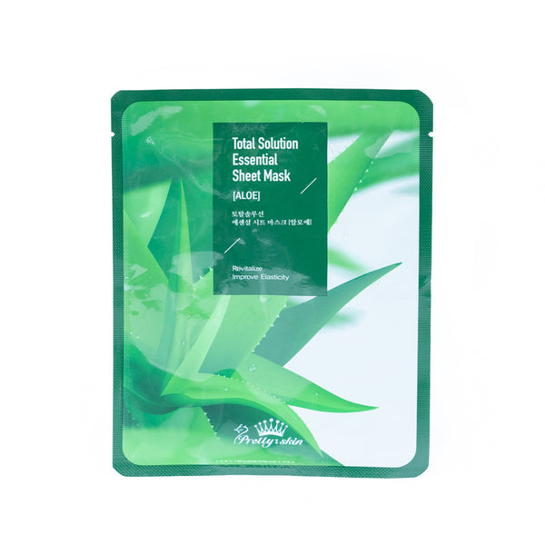 Pretty Skin Total Solution Essential Sheet Mask (Aloe)全方位護理精華面膜(蘆薈面膜)