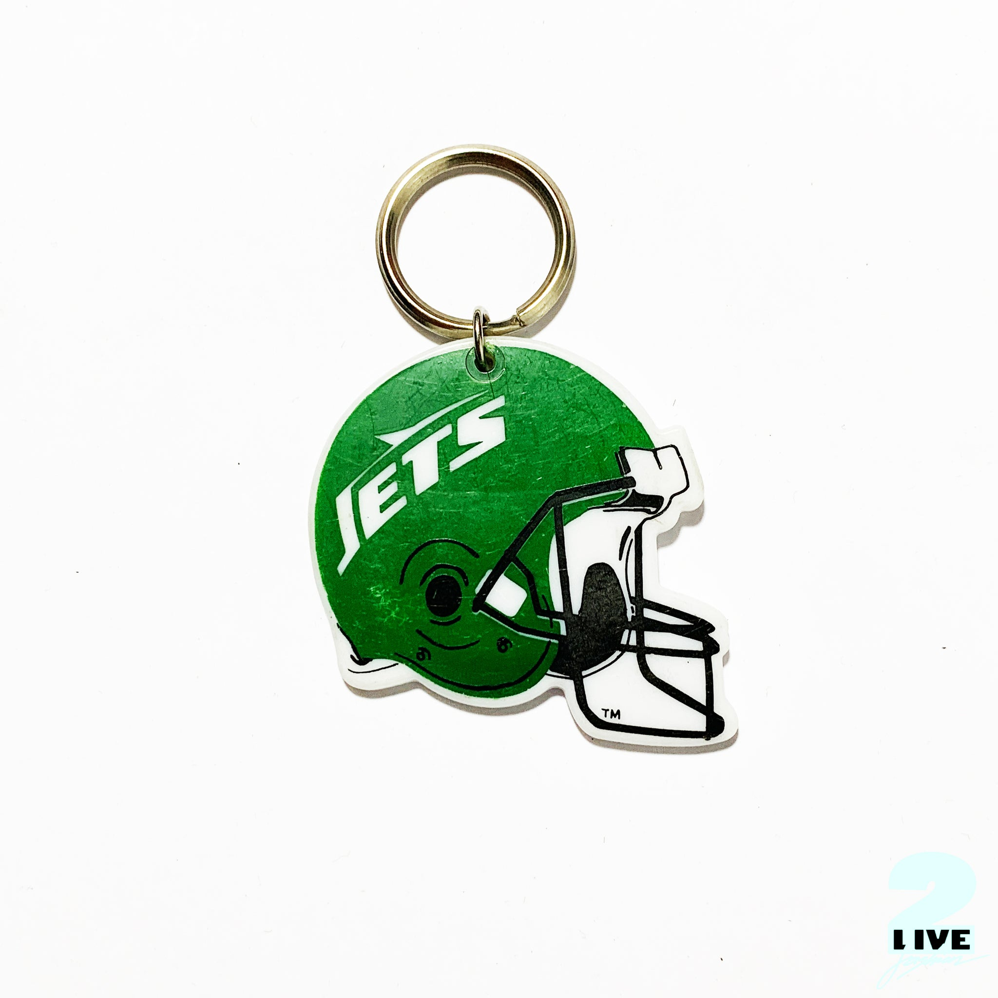 90s NEW YORK JETS NFL HELMET KEY-CHAIN