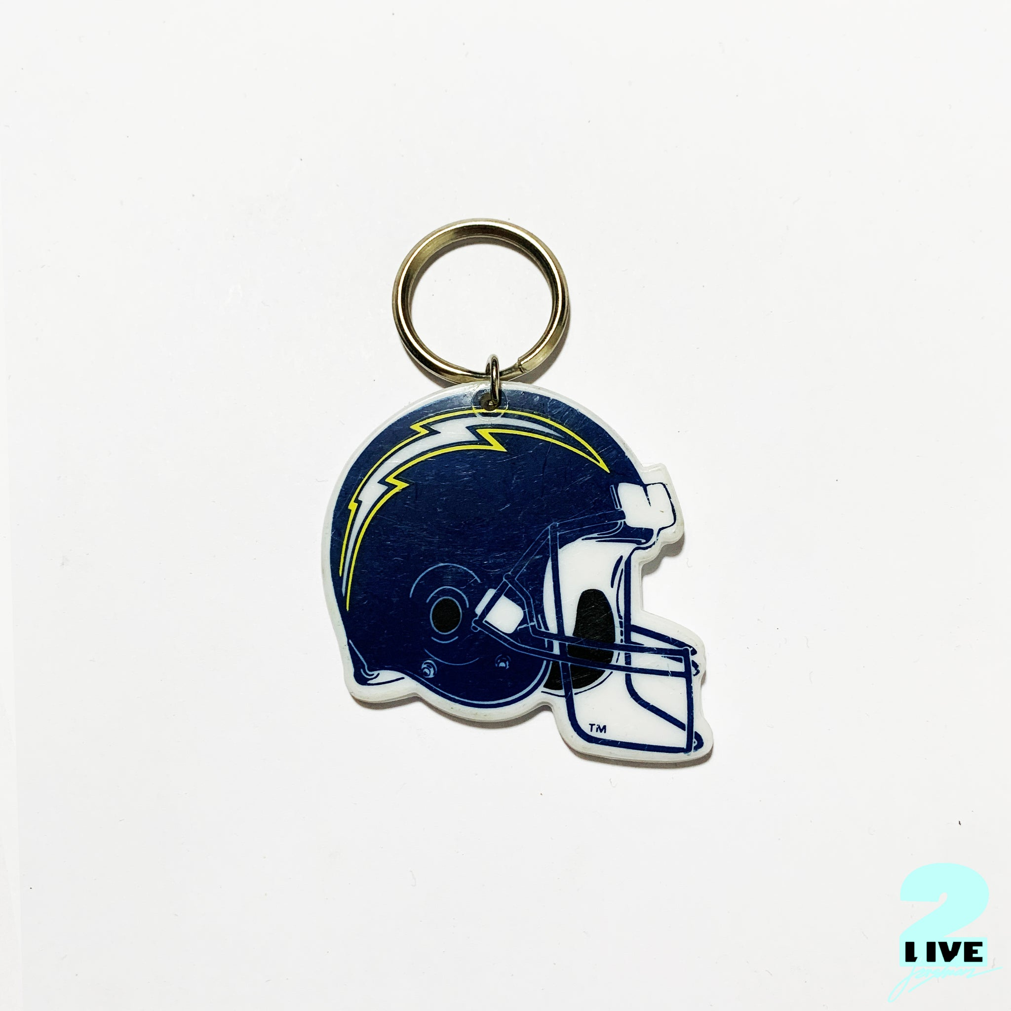 90s SAN DIEGO CHARGERS NFL HELMET KEY-CHAIN