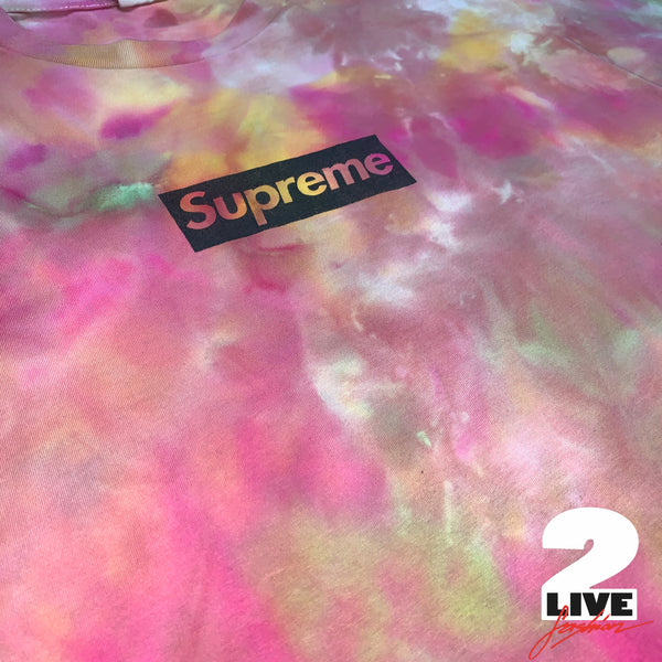 SUPREME - 2016 SUPREME PARIS STORE OPENING BOXLOGO TY-DYED