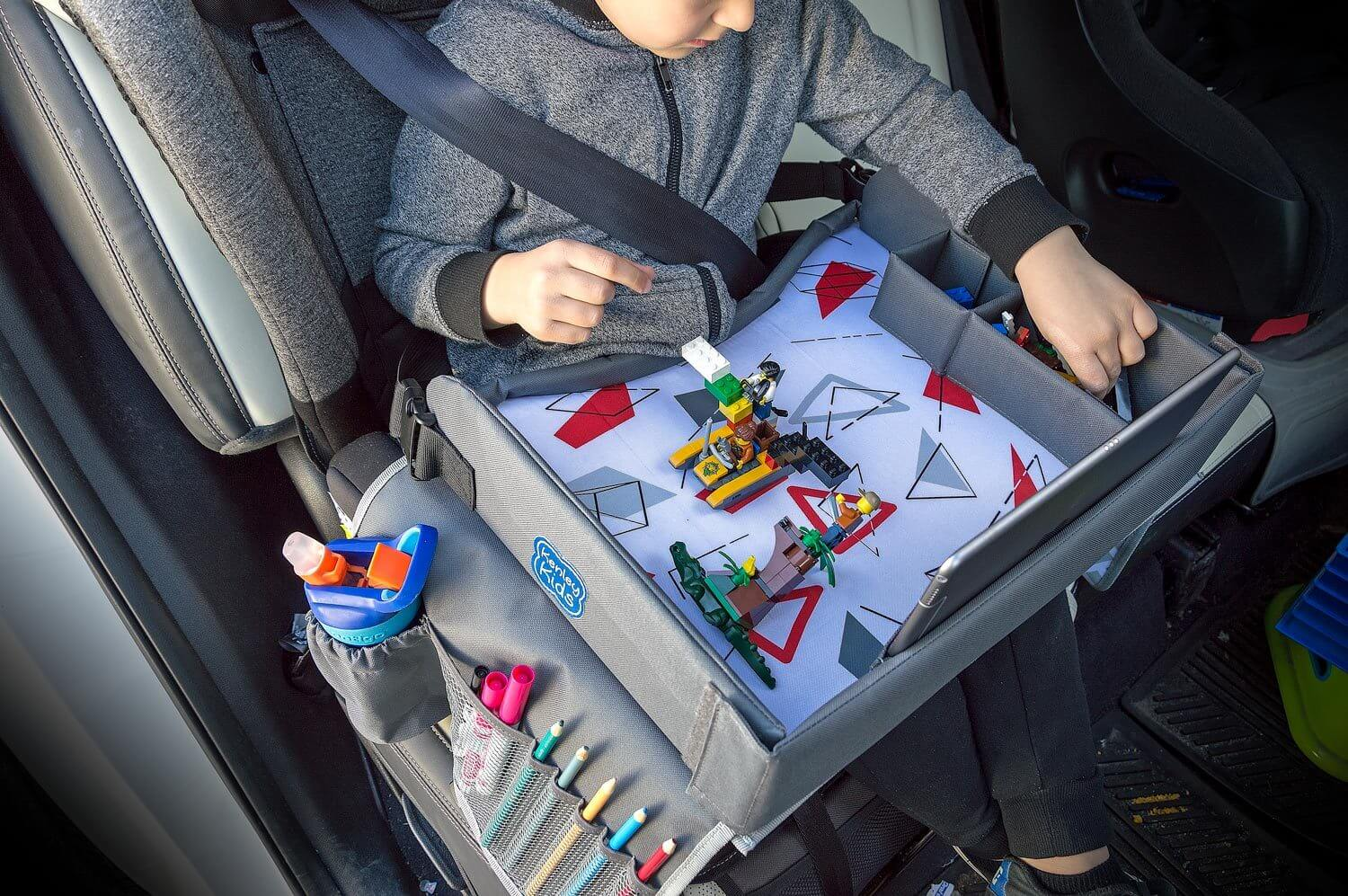Travel lap tray for kids in car