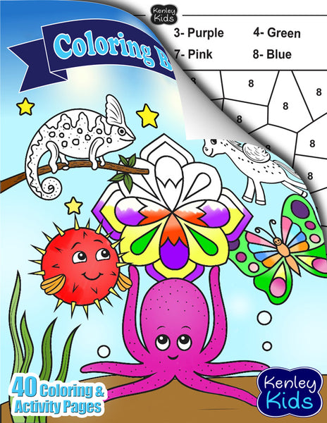 Kenley Kids coloring activity book