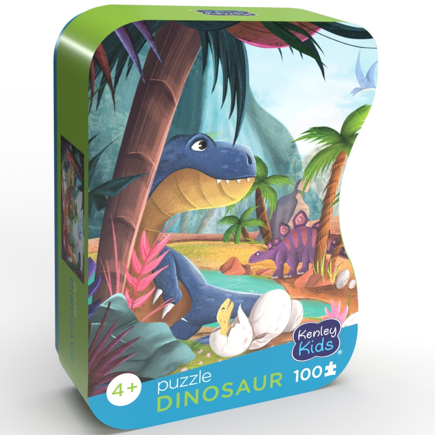 Dinosaur 23.5 x 14.8 100 Piece Puzzles for Kids Ages 3-8 JFIEEI Dinosaur Valley Paper Puzzle Learning Educational Cardboard Puzzles for Birthday Gift Boys Girls