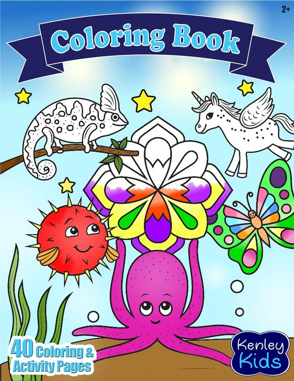 Kenley Kids coloring activity book toddlers pdf printable