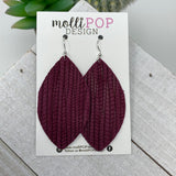 Maroon Palm Leather Leaf