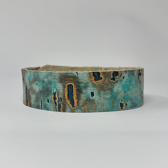 Teal and Copper Textured Skinny Cuff