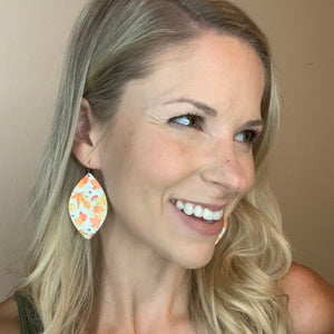 Fall Leaves Leather Cork Earrings