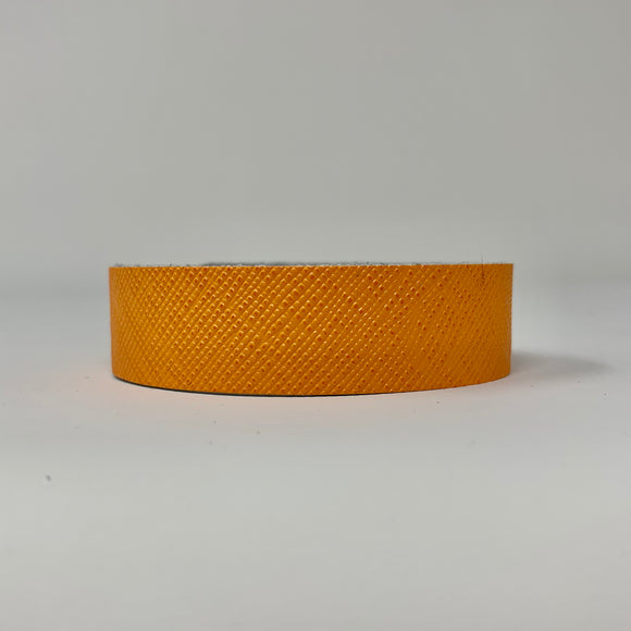 Orange Saffiano Skinny Cuff