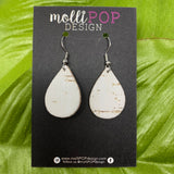 Mini White Birch Cork Leather Teardrop