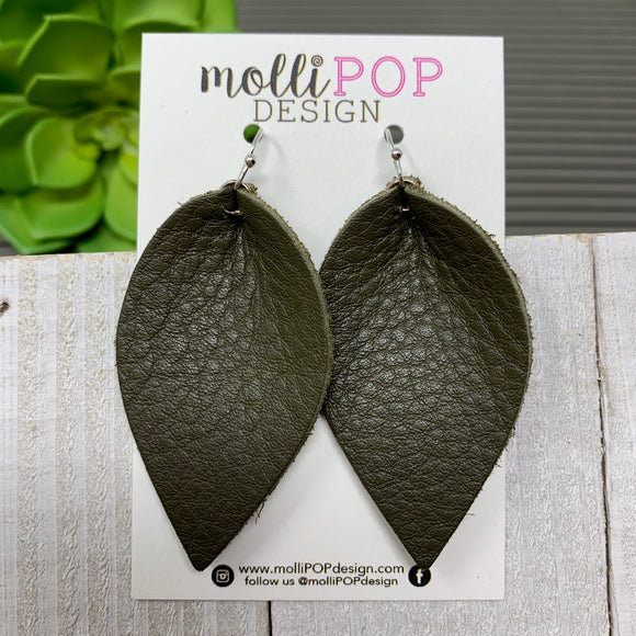 Olive Green Pinched Petal