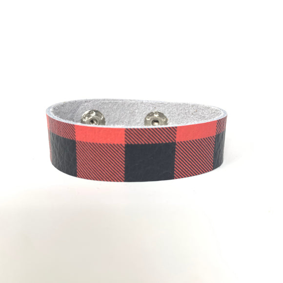 Buffalo Plaid Skinny Cuff