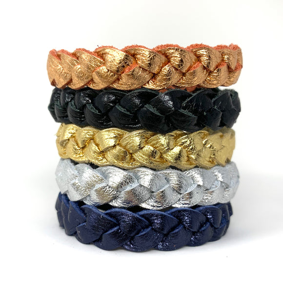 Metallic Braided Bracelet