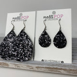 Black Sparkle Teardrops
