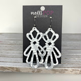 Delicate Leather Lace Cut-out Earrings