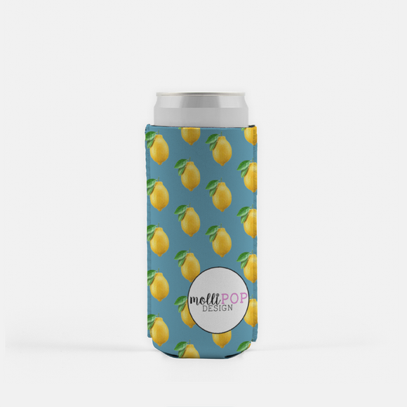 Lemon Zest for Life Skinny Koozie