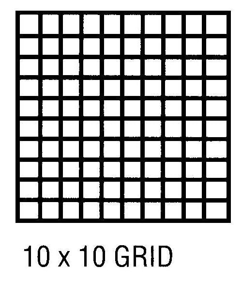 "Clearprint 16# 24""x36"" Vellum 100 Sheet Pack 10x10 Grid"